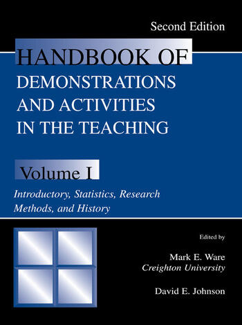 Handbook of Demonstrations and Activities in the Teaching of Psychology Volume I: Introductory, Statistics, Research Methods, and History book cover