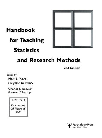Handbook for Teaching Statistics and Research Methods book cover