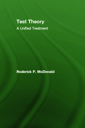 Test Theory A Unified Treatment book cover