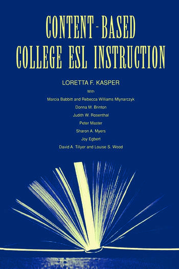 Content-Based College ESL Instruction book cover