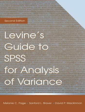 Levine's Guide to SPSS for Analysis of Variance book cover