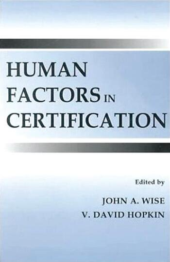 Human Factors in Certification book cover