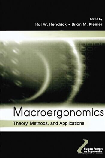 Macroergonomics Theory, Methods, and Applications book cover
