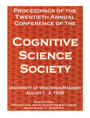 Proceedings of the Twentieth Annual Conference of the Cognitive Science Society book cover