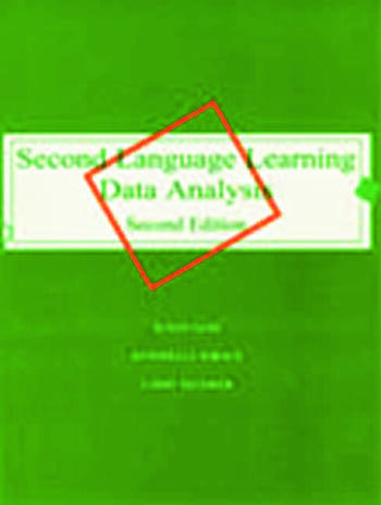 Second Language Learning Data Analysis Second Edition book cover