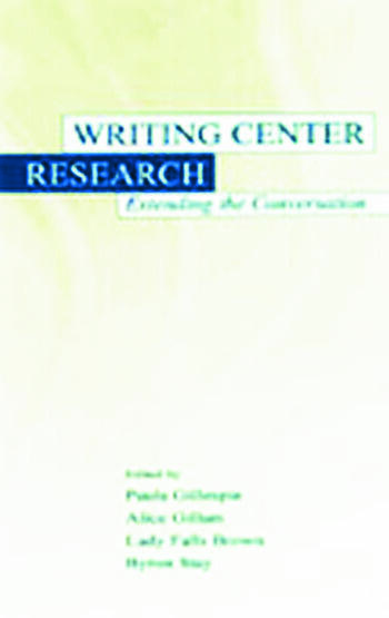 Writing Center Research Extending the Conversation book cover