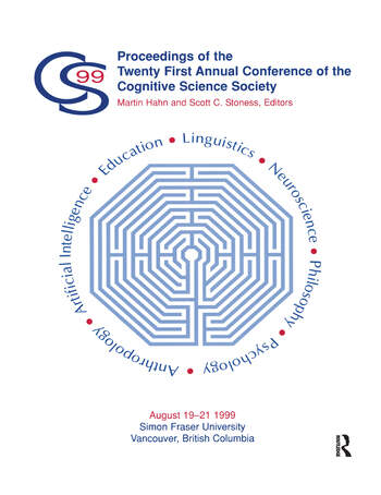 Proceedings of the Twenty-first Annual Conference of the Cognitive Science Society book cover