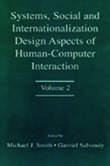 Systems, Social, and Internationalization Design Aspects of Human-computer Interaction Volume 2 book cover