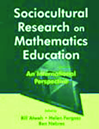 Sociocultural Research on Mathematics Education An International Perspective book cover