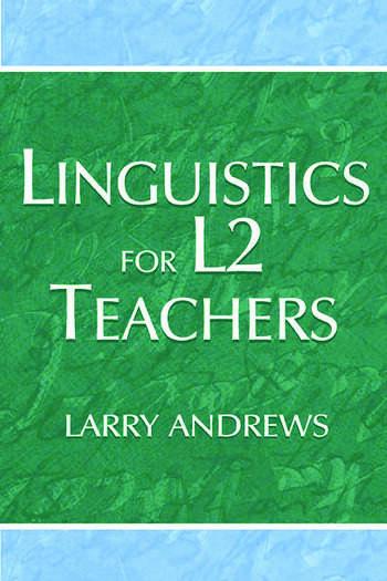 Linguistics for L2 Teachers book cover