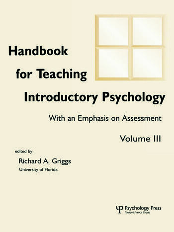 Handbook for Teaching Introductory Psychology Volume Ii book cover