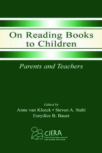 On Reading Books to Children Parents and Teachers book cover