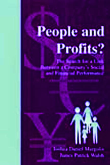 People and Profits? The Search for A Link Between A Company's Social and Financial Performance book cover