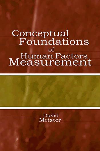 Conceptual Foundations of Human Factors Measurement book cover