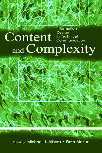 Content and Complexity information Design in Technical Communication book cover