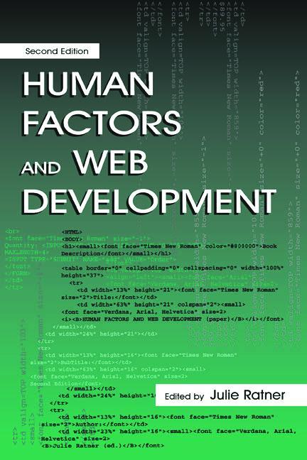 Human Factors and Web Development book cover