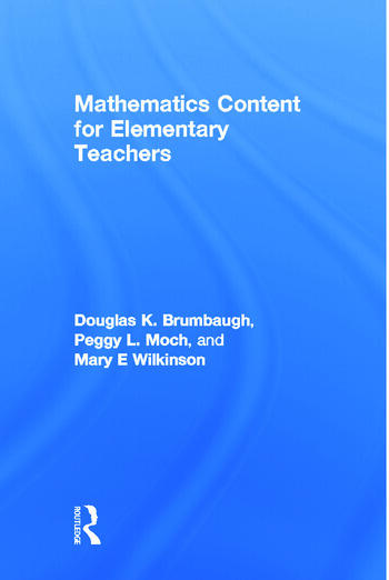 Mathematics Content for Elementary Teachers book cover