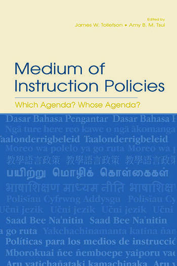 Medium of Instruction Policies Which Agenda? Whose Agenda? book cover