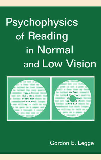 Psychophysics of Reading in Normal and Low Vision book cover