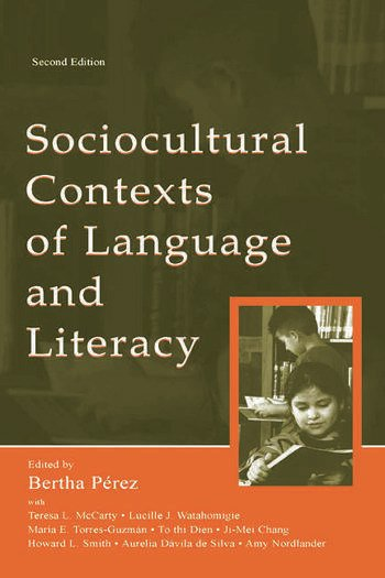 Sociocultural Contexts of Language and Literacy book cover
