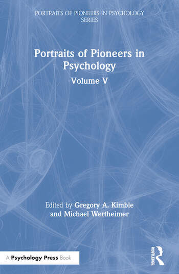 Portraits of Pioneers in Psychology Volume V book cover