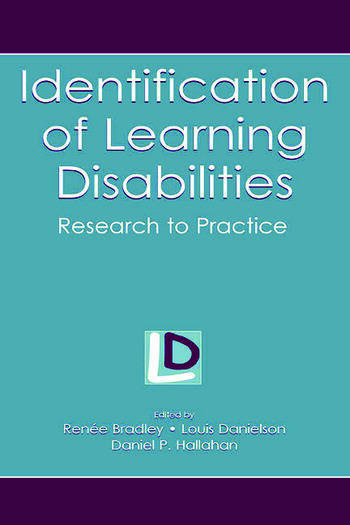 Identification of Learning Disabilities Research To Practice book cover