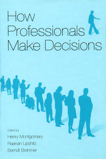 How Professionals Make Decisions book cover
