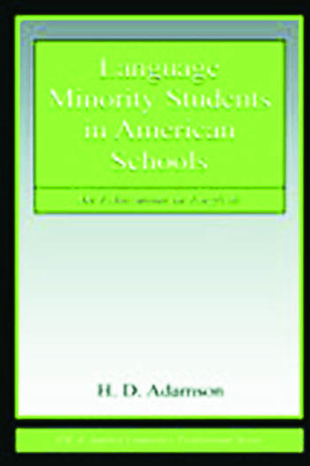 Language Minority Students in American Schools An Education in English book cover