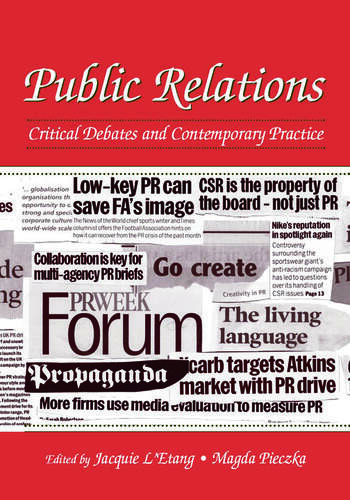 Public Relations Critical Debates and Contemporary Practice book cover