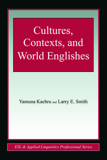Cultures, Contexts, and World Englishes book cover