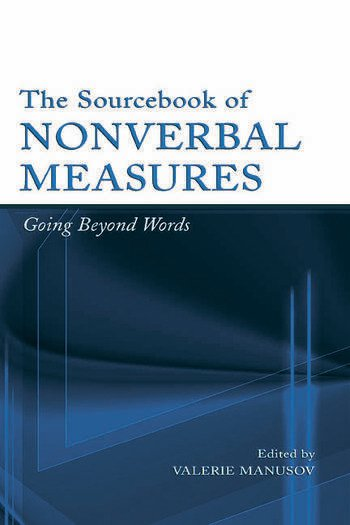 The Sourcebook of Nonverbal Measures Going Beyond Words book cover