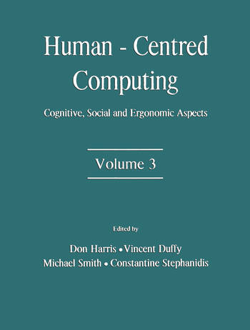 Human-Centered Computing Cognitive, Social, and Ergonomic Aspects, Volume 3 book cover