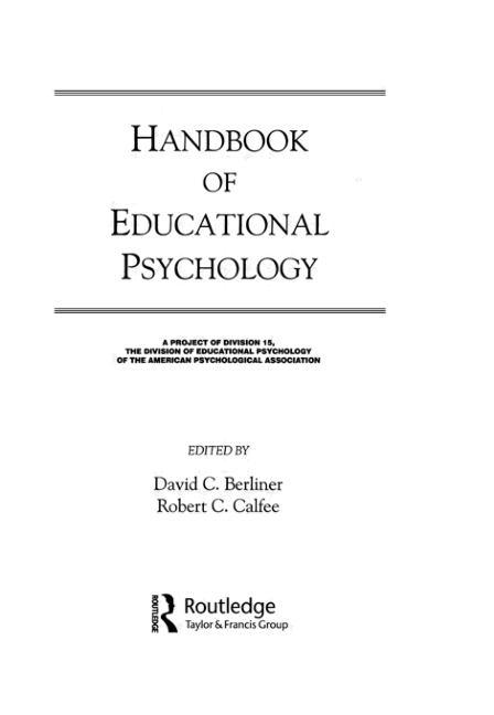 Handbook of Educational Psychology book cover