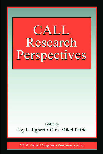CALL Research Perspectives book cover