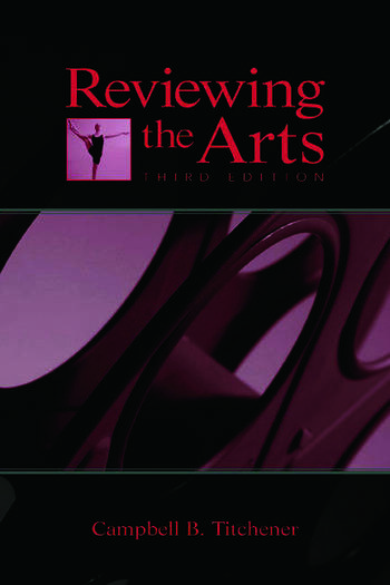 Reviewing the Arts book cover