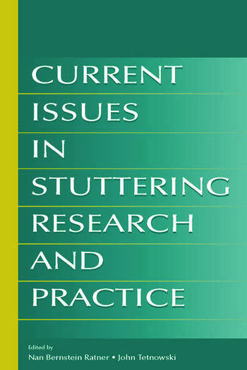 Current Issues in Stuttering Research and Practice book cover