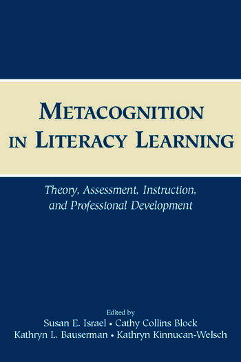 Metacognition in Literacy Learning Theory, Assessment, Instruction, and Professional Development book cover