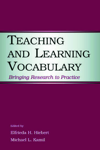 Teaching and Learning Vocabulary Bringing Research to Practice book cover