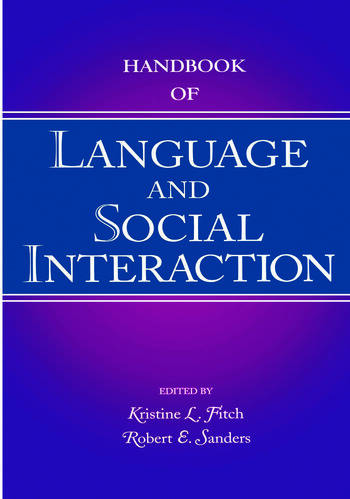 Handbook of Language and Social Interaction book cover