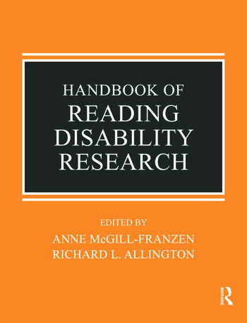 Handbook of Reading Disability Research book cover