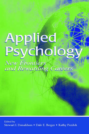 Applied Psychology New Frontiers and Rewarding Careers book cover