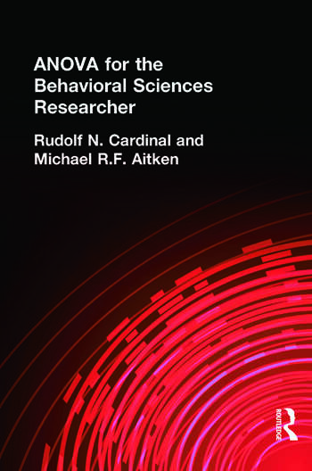 ANOVA for the Behavioral Sciences Researcher book cover