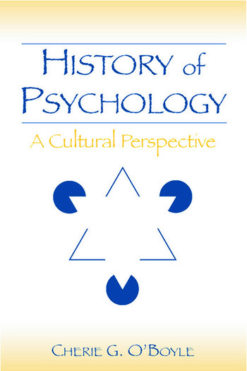 History of Psychology A Cultural Perspective book cover