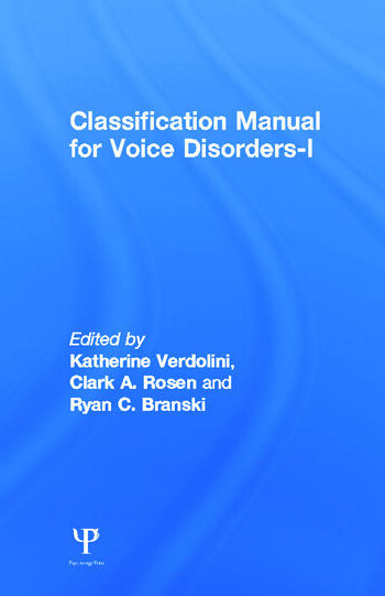 Classification Manual for Voice Disorders-I book cover