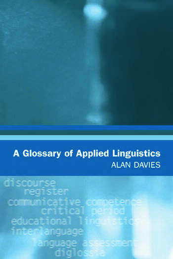 A Glossary of Applied Linguistics book cover