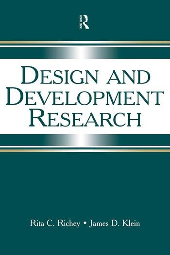 Design and Development Research Methods, Strategies, and Issues book cover