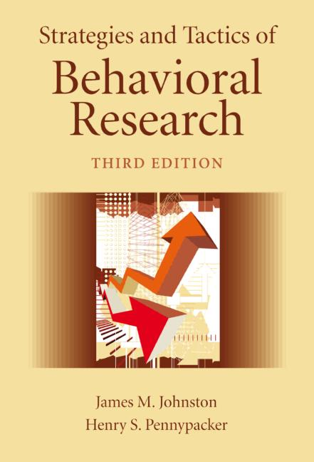 Strategies and Tactics of Behavioral Research book cover
