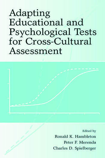 Adapting Educational and Psychological Tests for Cross-Cultural Assessment book cover