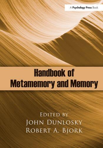 Handbook of Metamemory and Memory book cover