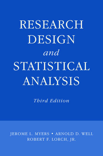 Research Design and Statistical Analysis Third Edition book cover